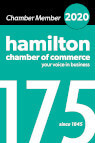 Hamilton Chamber of Commerce 175th anniversary logo